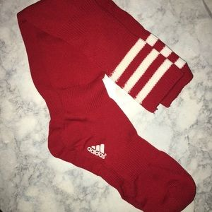 adidas red soccer socks